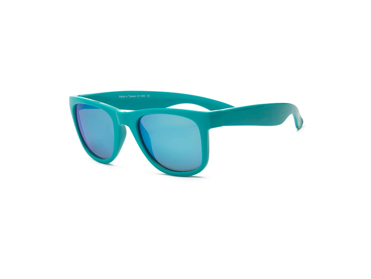 Green Wayfarer Blue Lens
